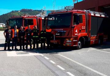 Dos nuevos camiones de bomberos para el Helipuerto de Ceuta