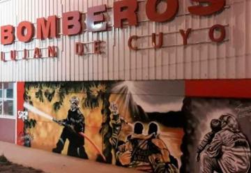 Los bomberos de Luján de Cuyo tienen su mural