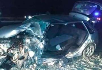 Un bombero herido al intentar rescatar al joven en accidente vehicular
