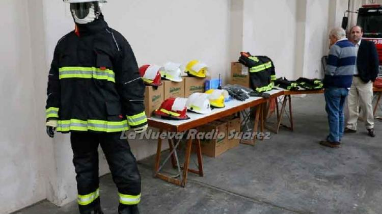 Bomberos de Coronel Suárez presentaron nuevo equipamiento