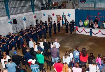 Festejo por los 8 años de los bomberos de Gutiérrez