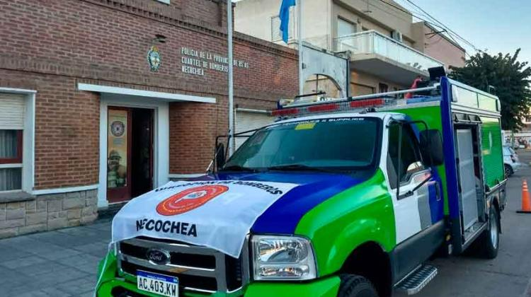 Bomberos de Necochea recibió una nueva autobomba