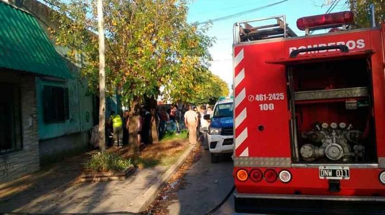 Un incendio en un geriátrico en Berisso causó momentos de tensión
