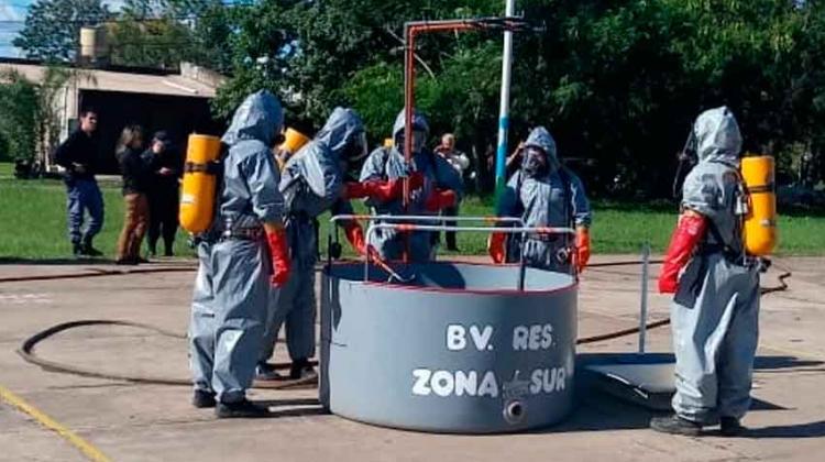 Bomberos se capacitaron en materiales peligrosos