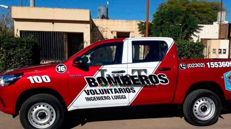 Bomberos Voluntarios de Ingeniero Luiggi sumó una nueva unidad