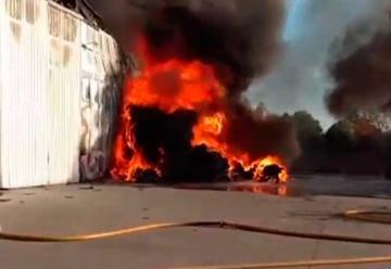 Se incendió una papelera en Esteban Echeverría