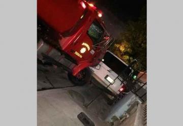Un camión de Bomberos se queda sin frenos en Tijuana