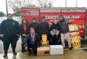 Bomberos Voluntarios de Caucete recibieron una gran donación