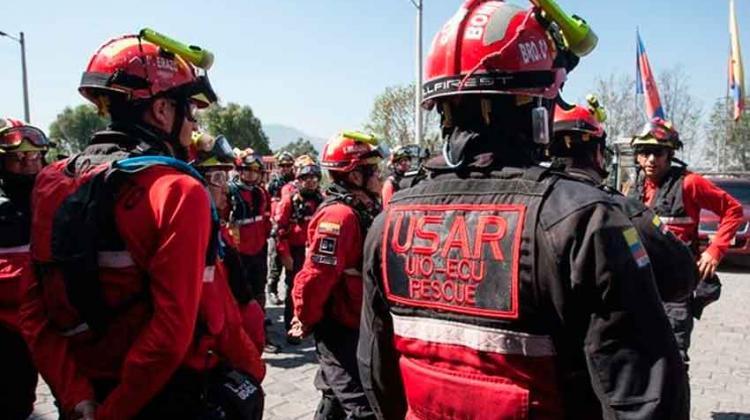 Bomberos Quito participa en movilización nacional de equipos USAR
