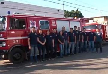 Presentación del cuerpo de Bomberos Voluntarios El Manantial
