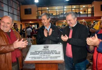 Inauguran la nueva sede de los Bomberos Voluntarios de Oberá