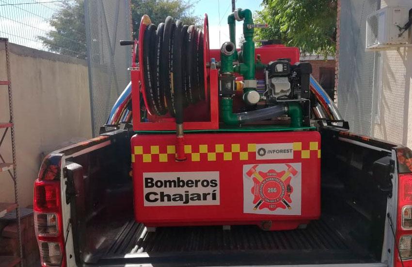 Bomberos de Chajarí adquirió un Equipo de ataque rápido