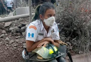 Graciela, la bombera que provocó admiración en redes