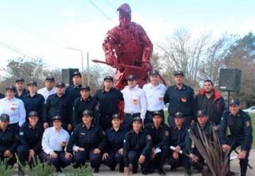 Monumento para los Bomberos Voluntarios de Verónica