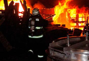 Incendio destruyó un galpón criadero de cerdos