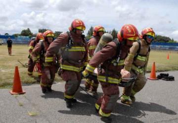 Olimpiadas de bomberos 2018 en Guatemala