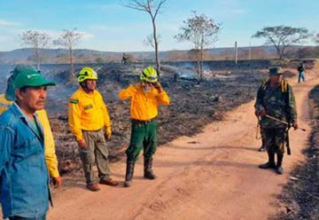 Capacitan a bomberos voluntarios para mitigar incendios forestales