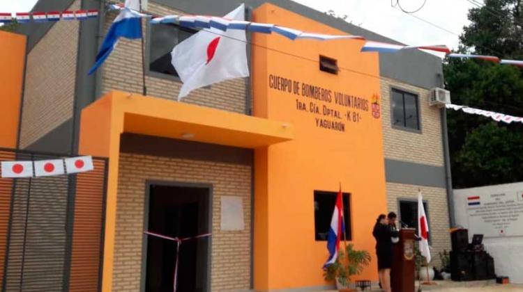 Inauguran en Yaguarón un nuevo cuartel de los Bomberos