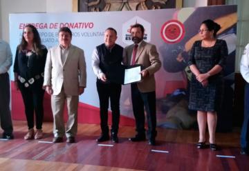 Entregan donativo a Bomberos Voluntarios de Guanajuato