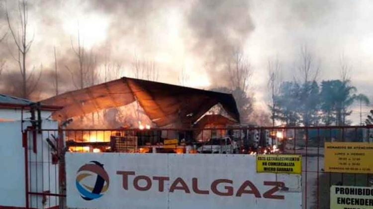 Se incendió un depósito de gas en Concepción
