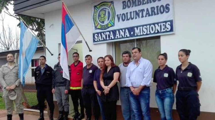 Inauguraron sede de Bomberos Voluntarios de Santa Ana