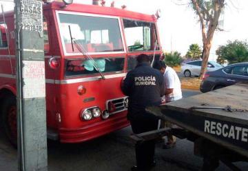 Camión de Bomberos en San Luis Potosí Falla por obsoleto