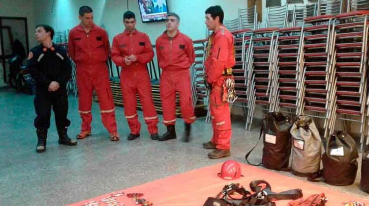 Bomberos presentó su equipo de rescate en altura