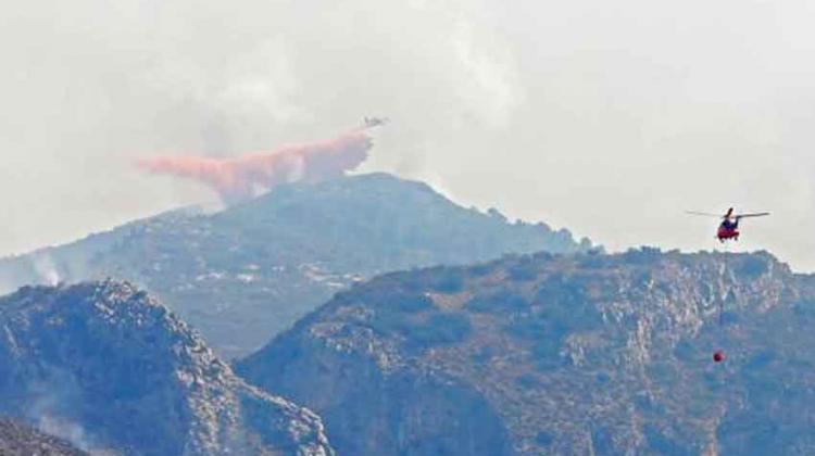 Bombero herido en extinción del incendio de Ourense