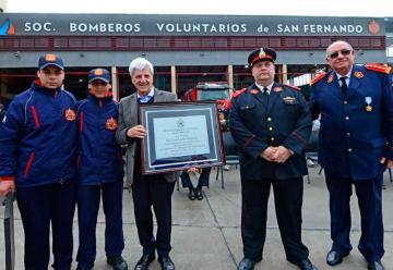 Celebran el primer año del nuevo Cuartel de Bomberos de San Fernado