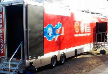 Bomberos en Mina Clavero se capacitarán con un moderno simulador