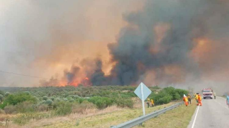 Envían bomberos cordobeses al incendio de San Luis