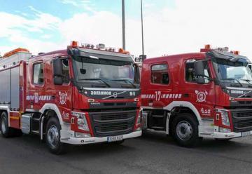 Bomberos de Tenerife adquieren cinco camiones