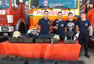 Bomberos Voluntarios Iguazú recibieron herramientas