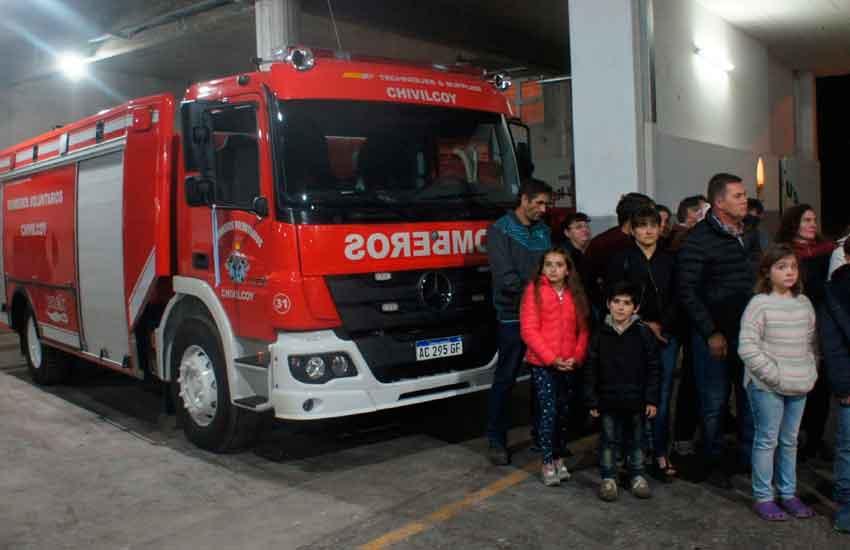 Nueva unidad de los Bomberos Voluntarios de Chivilcoy