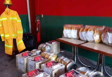Bomberos Voluntarios recibieron equipamiento de protección