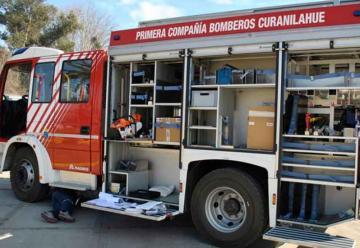 Nuevo carro de rescate se suma a Bomberos de Curanilahue