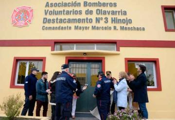 Bomberos inauguraron la nueva sede en Hinojo