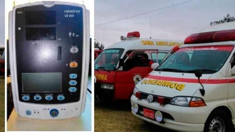 Sustraen equipo médico de ambulancia de los bomberos