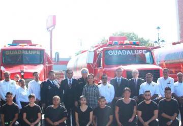 Entregan unidades a Bomberos de Ciudad Guadalupe