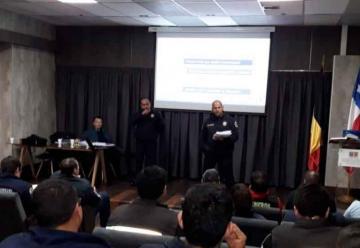Bomberos de Talcahuano se capacitan con certificación internacional