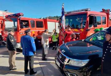 Cuerpo de Bomberos de Panguipulli recibió material mayor