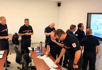 Bomberos franceses capacitaron en la Federación Santafesina