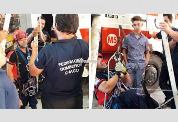 Bomberos Voluntarios se capacitaron en rescate con cuerdas