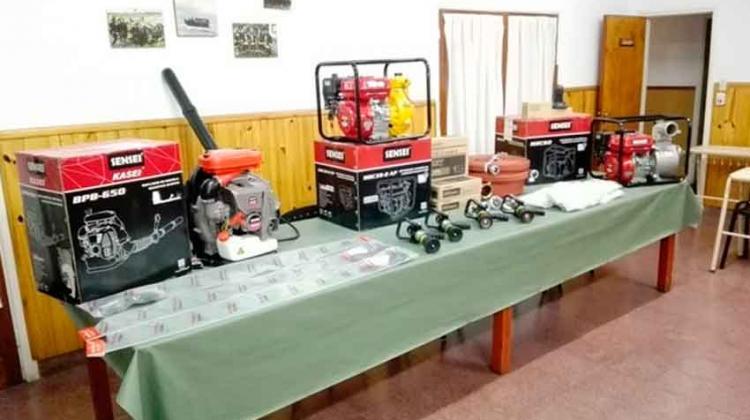 Valioso equipamiento para los Bomberos Voluntarios