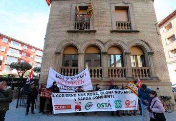 Nueva protesta de los bomberos forestales en Huesca y Teruel