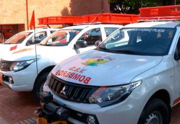 Bomberos de Antioquia recibieron nuevos vehículos