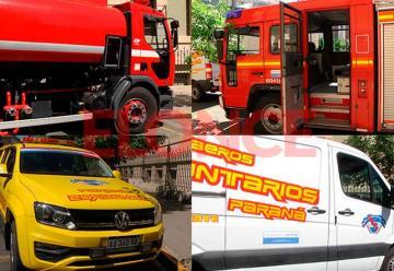 Bombero de Paraná presentó cuatro nuevas unidades