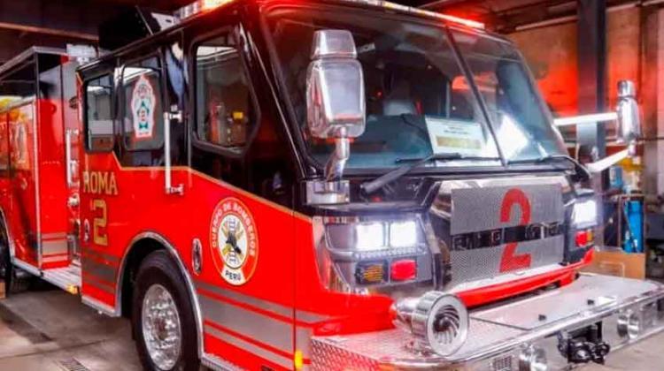 Moderno camión de bomberos será donado al Cuerpo de Bomberos