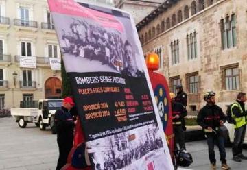 Bomberos del Consorcio protestan por sus malas condiciones