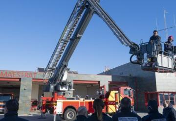 Bomberos de Benicarló incorporó un nuevo vehículo para  trabajos en altura